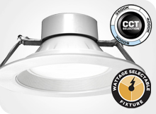 Universal Downlights Wattage - Color Selectable