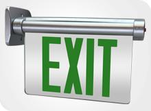 Edgelit Exit Sign