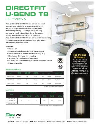 DirectFit U-Bend T8 - UL Type - A