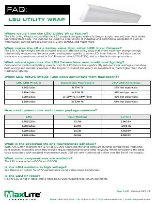 Utility Wrap FAQs