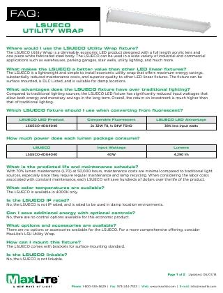 Eco Utility Wrap FAQs