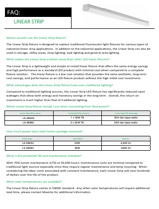 LS Series Linear Strip FAQs
