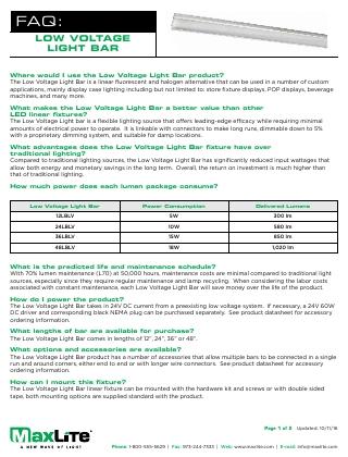 Low Voltage Light Bars FAQs