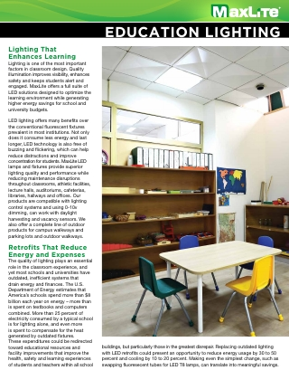 EDUCATION LIGHTING SOLUTIONS BROCHURE