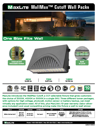 WallMax Cutoff Wall Packs