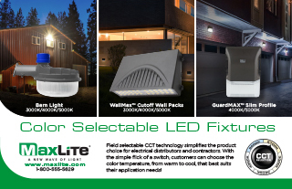 Color Selectable Outdoor Fixtures