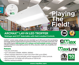 ARCMAX LAY-IN LED TROFFER