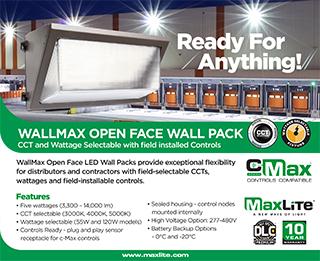 WallMax Open Face Wall Packs