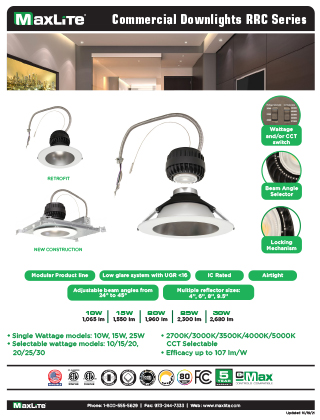 Commercial Downlights RRC Series