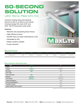 LED Strip Retrofit Kit Flyer