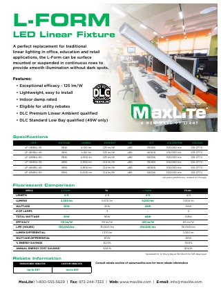 L-Form LED Linear Fixture Flyer