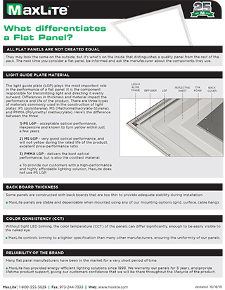 Flat Panel Differences