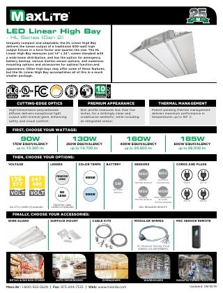 LED Linear High Bay Flyer